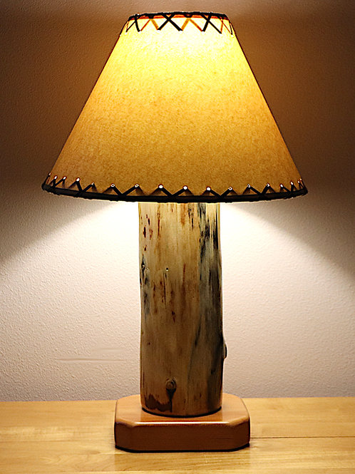 """The Big Sawtooth Mountain Table Lamp w/14"""" Parchment Shade"""