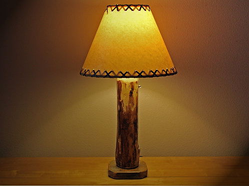 The Sawtooth Mountain Log Table Lamp (Lamp shade currently unavailable)