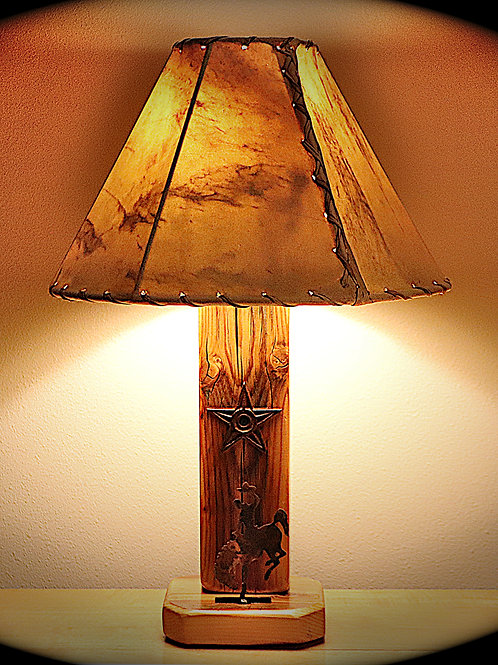 The Bronc Buster Western Table Lamp with Choice of Shade