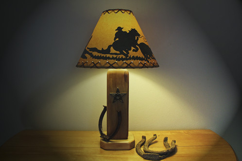 Made From Weathered Barn Wood With The Additions Of The Texas Star And A  Rustic Horse Shoe, The Old West Table Lamp Brings Back The Old West Into  Your Home ...