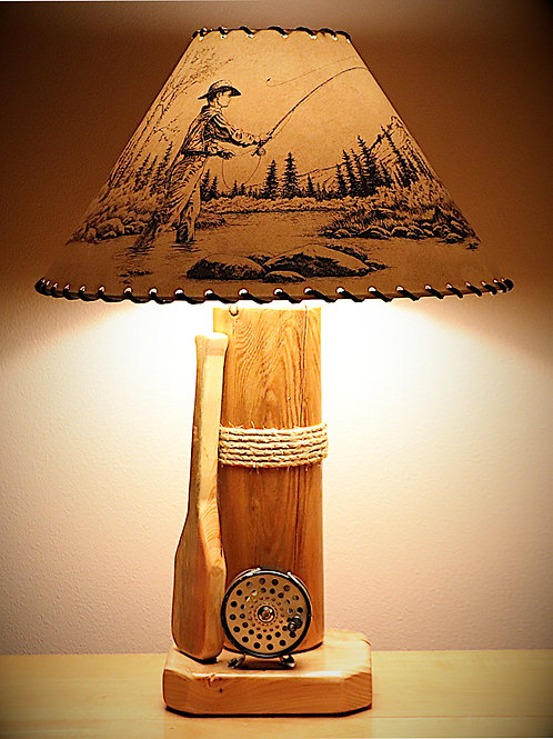 The Clearwater River Table Lamp with Choice of Shade