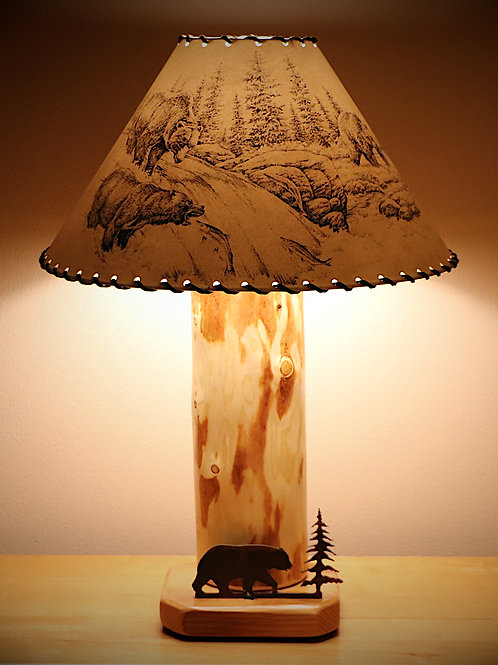 The Caribou Mountain Table Lamp with Choice of Shade