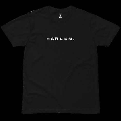 HARLEM. (front) / HRLM HRLM HRLM HRLM (back) T-SHIRT