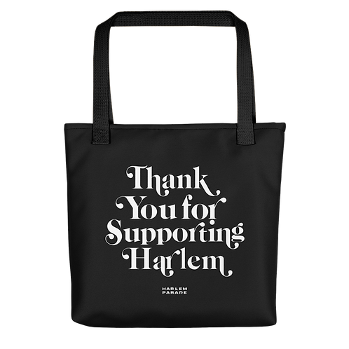 THANK YOU FOR SUPPORTING HARLEM TOTE BAG