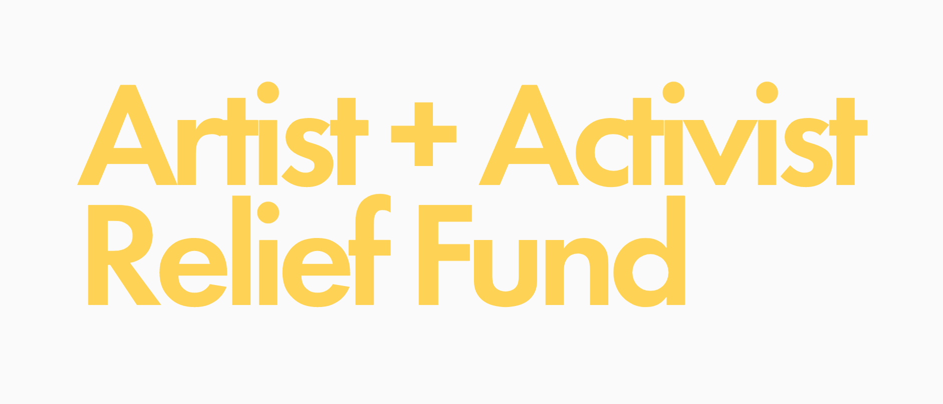 Artists & Activist Relief Fund