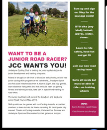 JUNIOR ROAD CYCLING SKILLS PROGRAM 2018