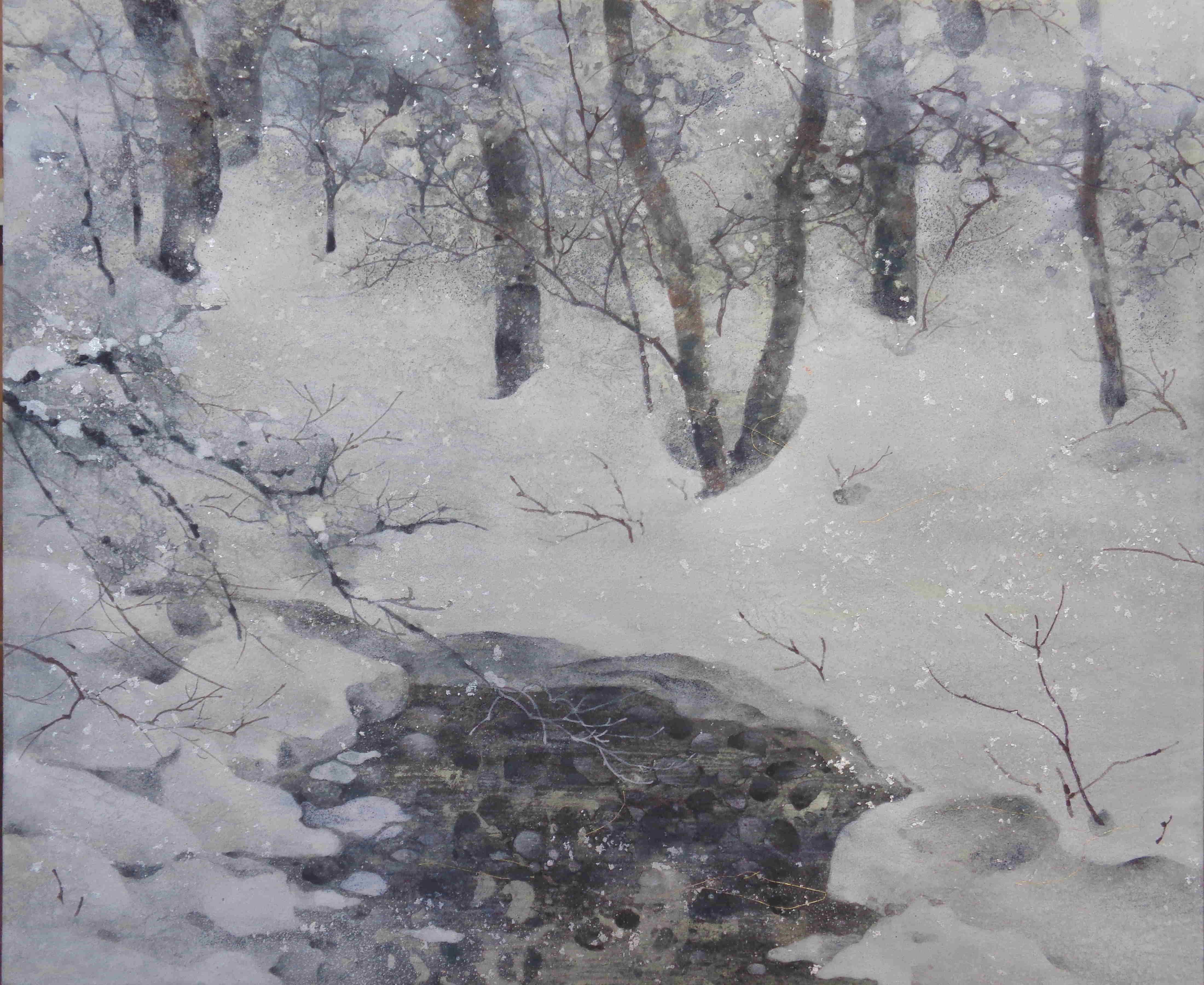 冬のアロニ- - 46x38cm / 2017