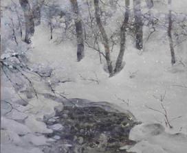 冬のアロニー- 46 x 38 cm / 2017