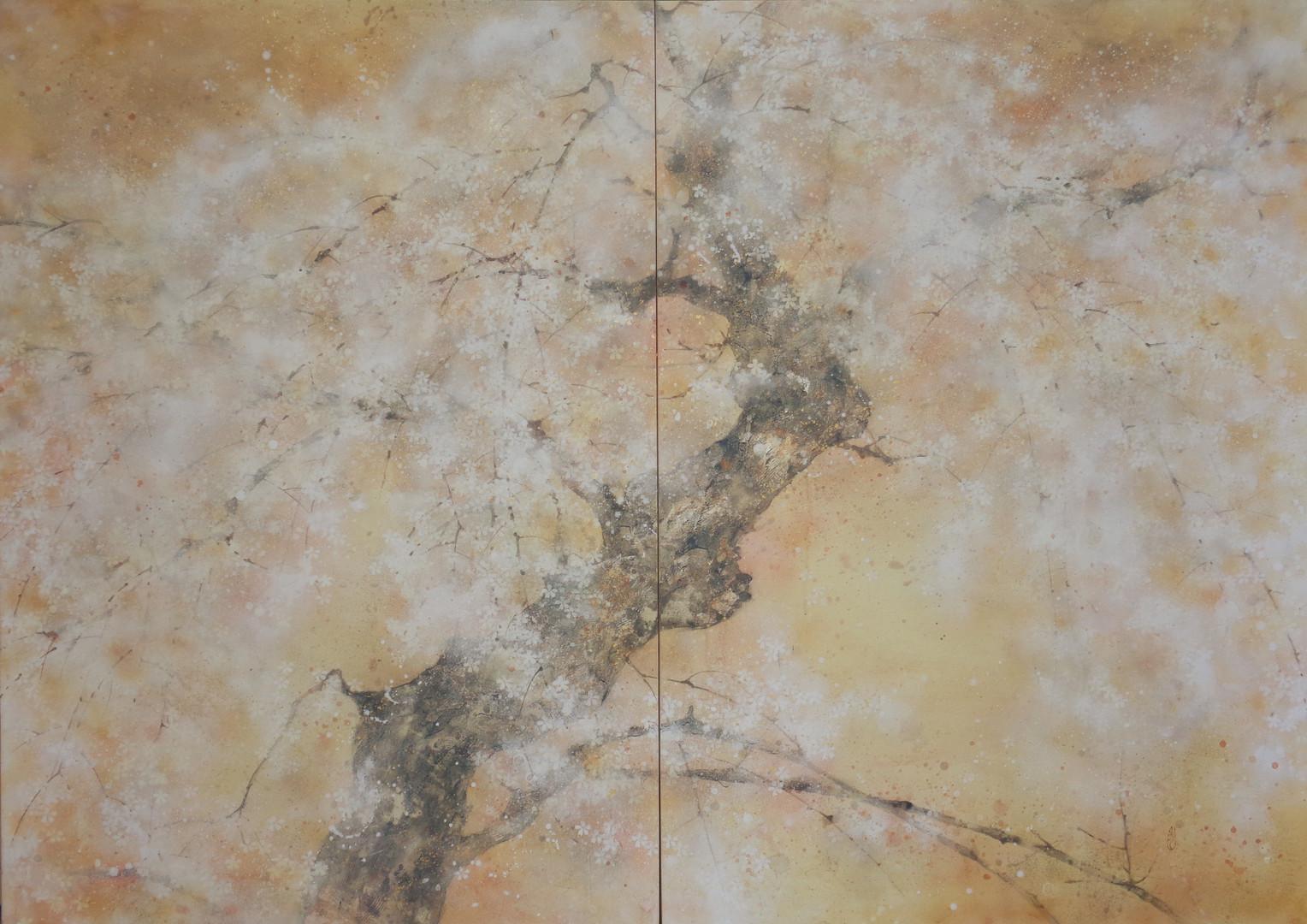 Saison du cerisier - 100 x 140 cm / 2018