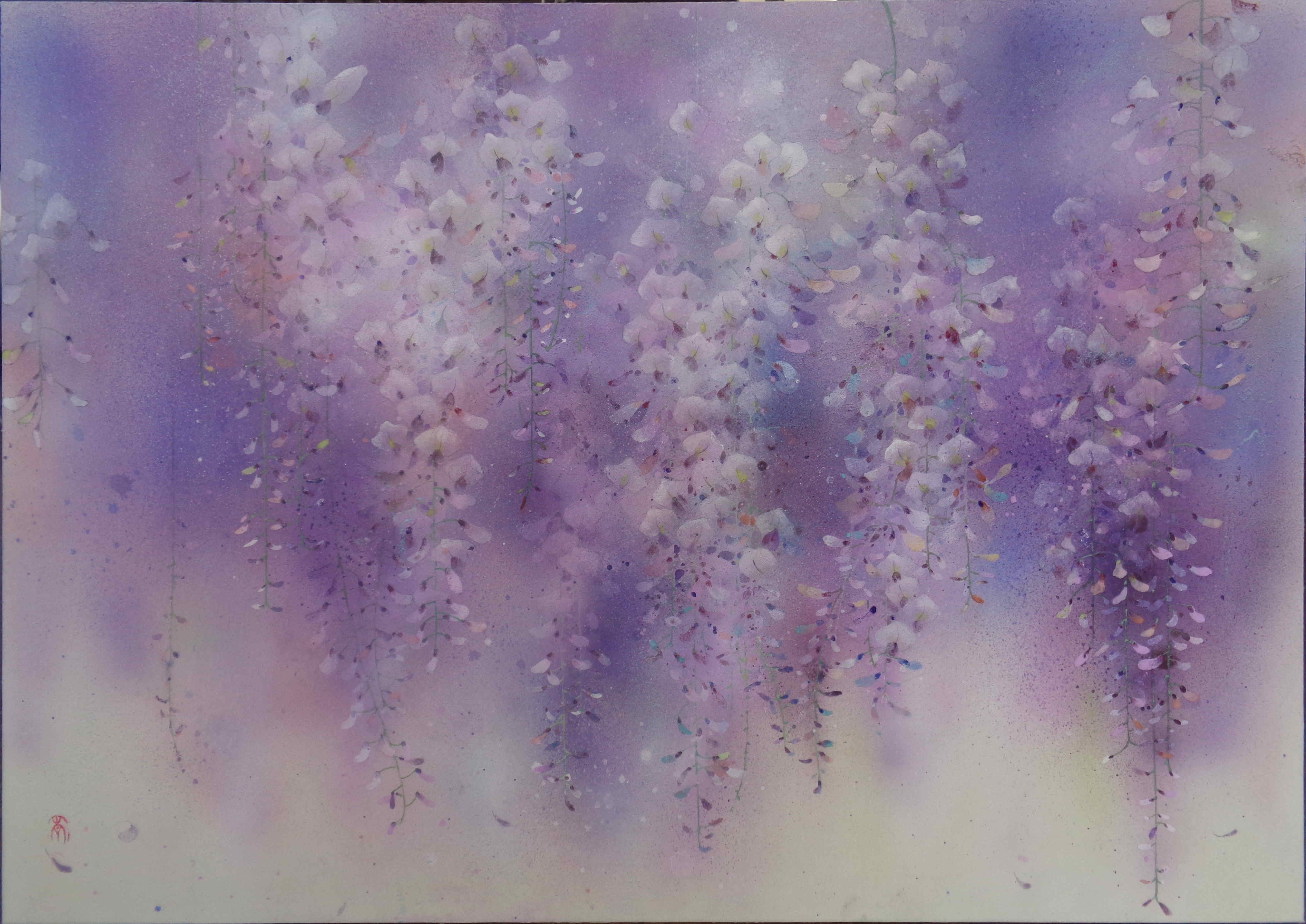 Pluie violette - 50x70 cm / 2020