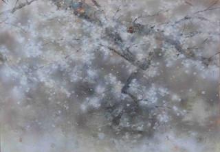 Pluie de cerisier - 70 x 100 cm / 2020