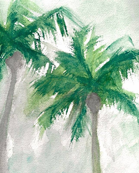 DREAMY GREEN FRONDS (#2)
