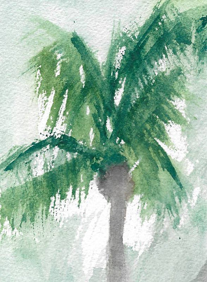 DREAMY GREEN FRONDS (#1)