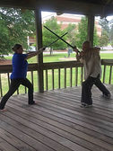 Good day for a fighting lesson. My stude