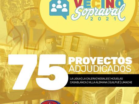 75 organizaciones comunitarias se adjudican el Fondo Vecino Sopraval