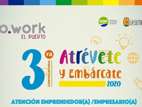 """Programa """"Atrévete y Embárcate"""" de El Puerto Cowork en Tocopilla, recibe más de 200 postulaciones"""