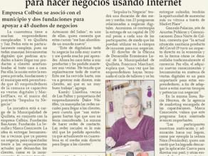 Proyecto Impulsa Tu Negocio, diario El Observador. 16 de Abril 2021