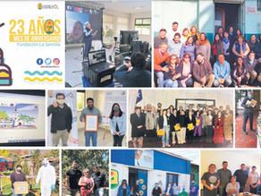 Fundación La Semilla celebra sus 23 años usando la tecnología del momento .
