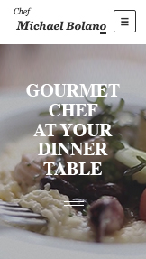 Events website templates – Private Chef