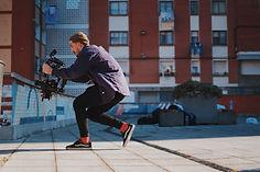 storror parkour team rollerblading cameraman