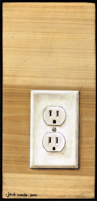Outlet on Wood