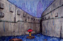 Rainy Day, Cityscape
