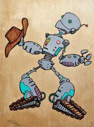 Cowboy Bot on Roller Skates