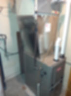 new natural gas furnace and gas line install