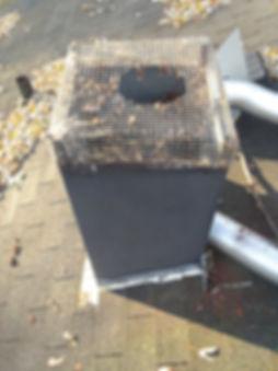 rusted chimney flue