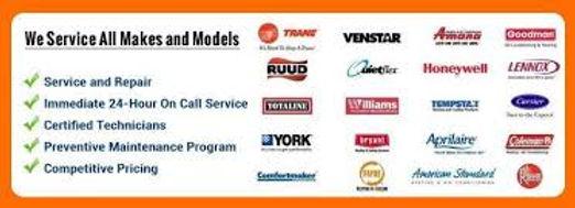 service all makes ad models
