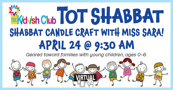 kid-ish club tot shabbat candle making a
