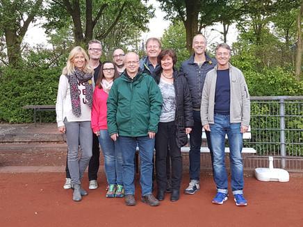 Der neue Vorstand der Tennisabteilung des DJK Germania Hoisten