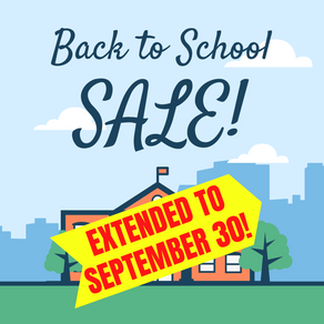 Back To School SALE! - EXTENDED!!!
