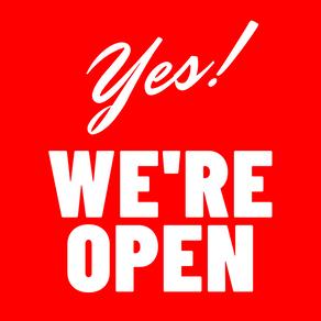 Yes, we're still open!