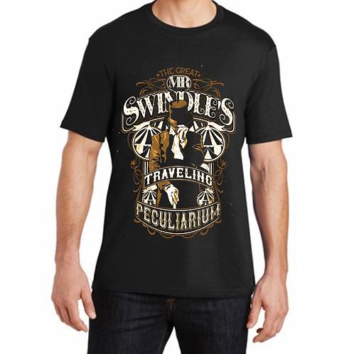 Mens T-Shirt-Jet Black-Multi Color Design