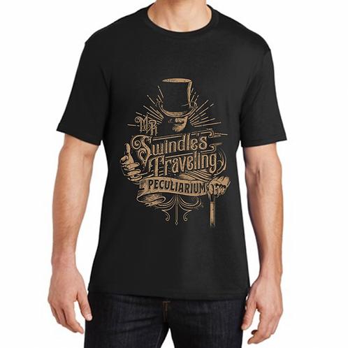 Mens T-Shirt- Jet Black-Bronze Design