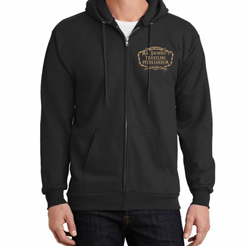 Zip Up Hoodie-Bronze Design
