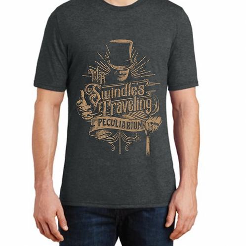 Mens T-Shirt- Black Frost-Bronze Design