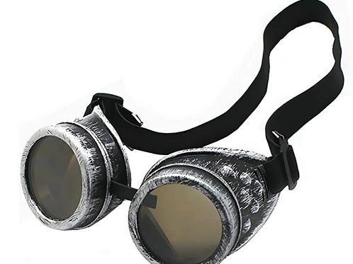 Steampunk Goggles - Silver Color