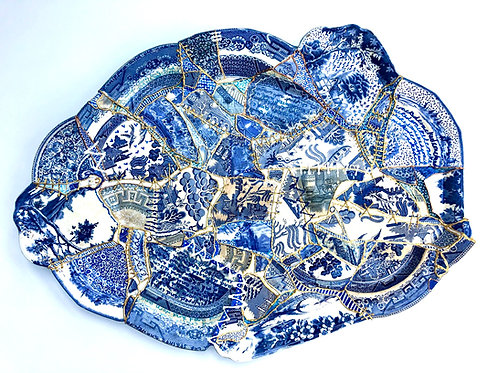 State of the nation: no 2. A commentary in re-assembled ceramic - Susan Marston