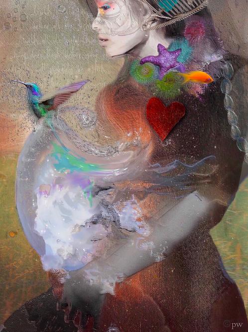 God is transparent blue - Peter Wilkin