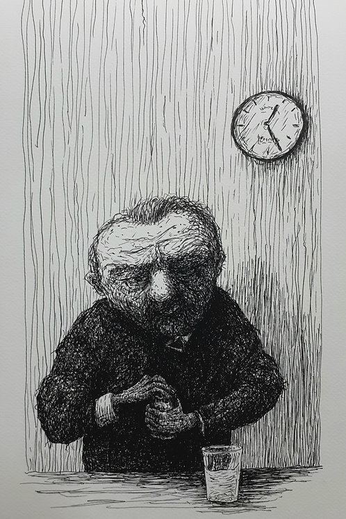Old Man Opening A Can - Michael Hayter