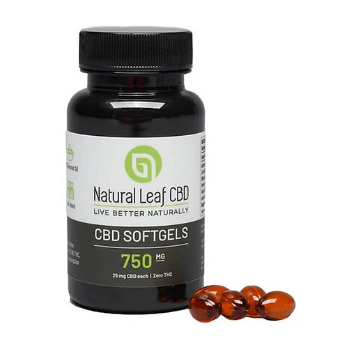 Natural Leaf CBD - CBD Soft Gels - 750mg