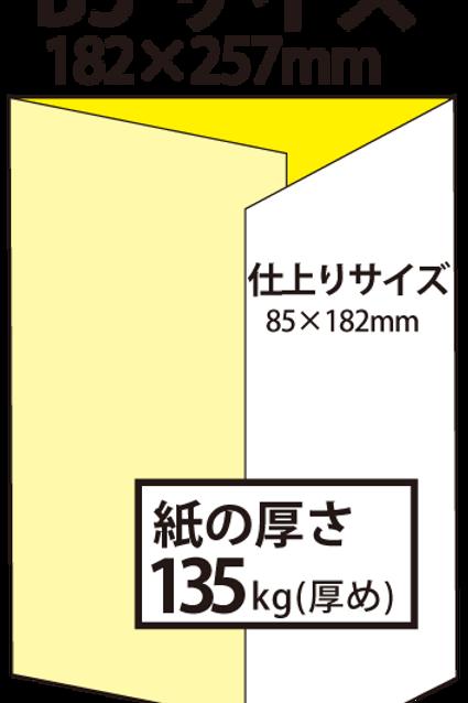 【B5サイズ】パンフレット3つ折り_135kg  100枚14,600円~●クリック後印刷枚数を選んで下さい。