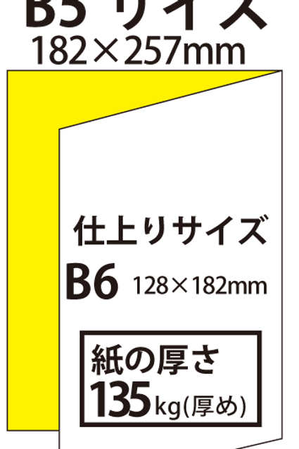 【B5サイズ】パンフレット2つ折り_135kg  100枚14,100円~●クリック後印刷枚数を選んで下さい。