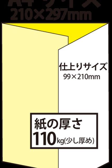 【A4サイズ】パンフレット3つ折り_110kg  100枚145,800円~●クリック後印刷枚数を選んで下さい。