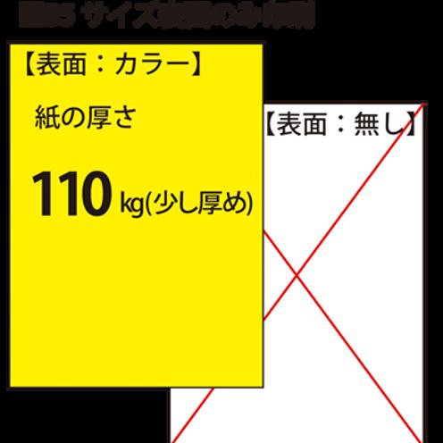 【B5サイズ】チラシ_110kg_片面印刷 100枚7,000円~●クリック後印刷枚数を選んで下さい。