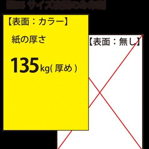 【B5サイズ】チラシ_135kg_片面印刷 100枚7,100円~●クリック後印刷枚数を選んで下さい。