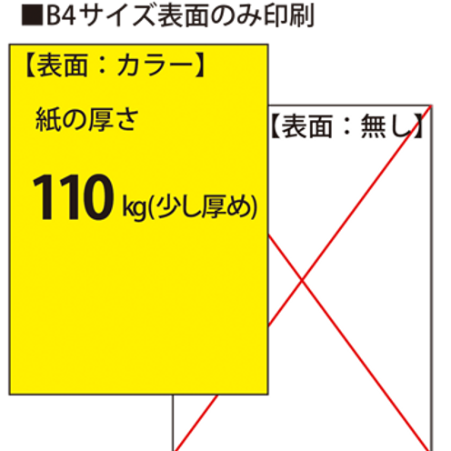 【B4サイズ】チラシ_110kg_片面印刷 100枚14,500円~●クリック後印刷枚数を選んで下さい。