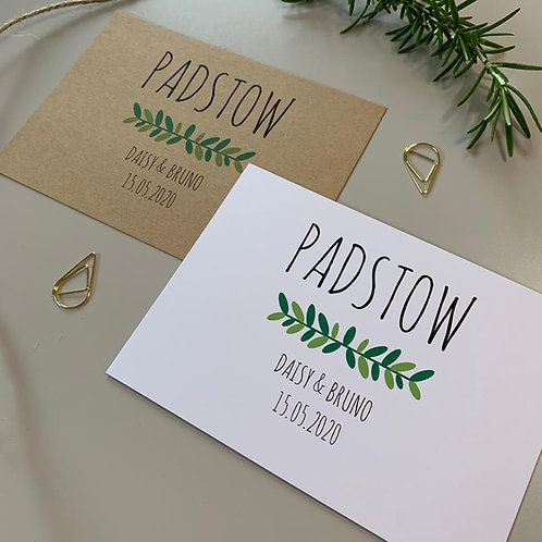 Foliage Table Name Sign